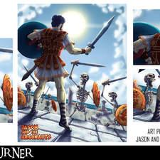 "An alternative art poster for the film ""Jason & the Argonauts"""