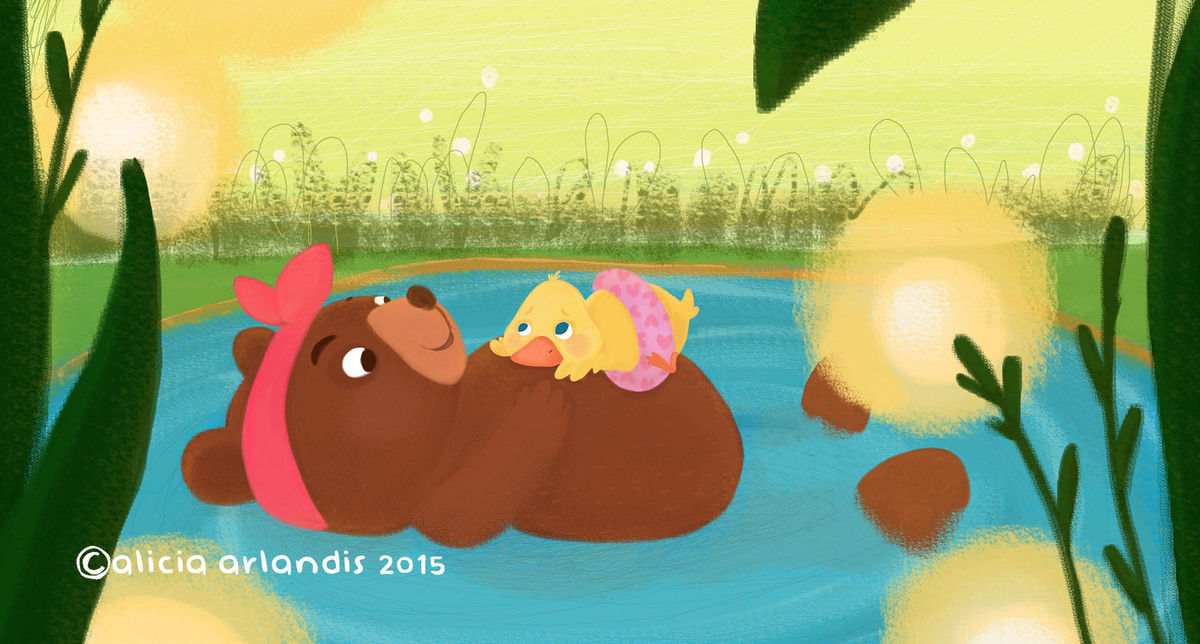 Bear And Duck By Alicia Arlandis