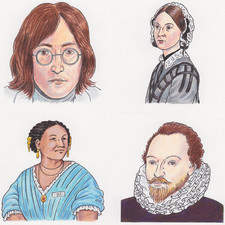 illustration for history publication