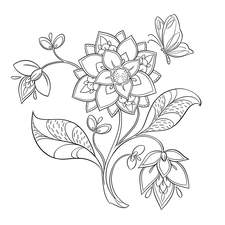 Flowers Colouring Ink