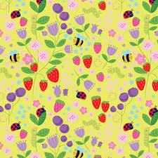 Summer bee pattern