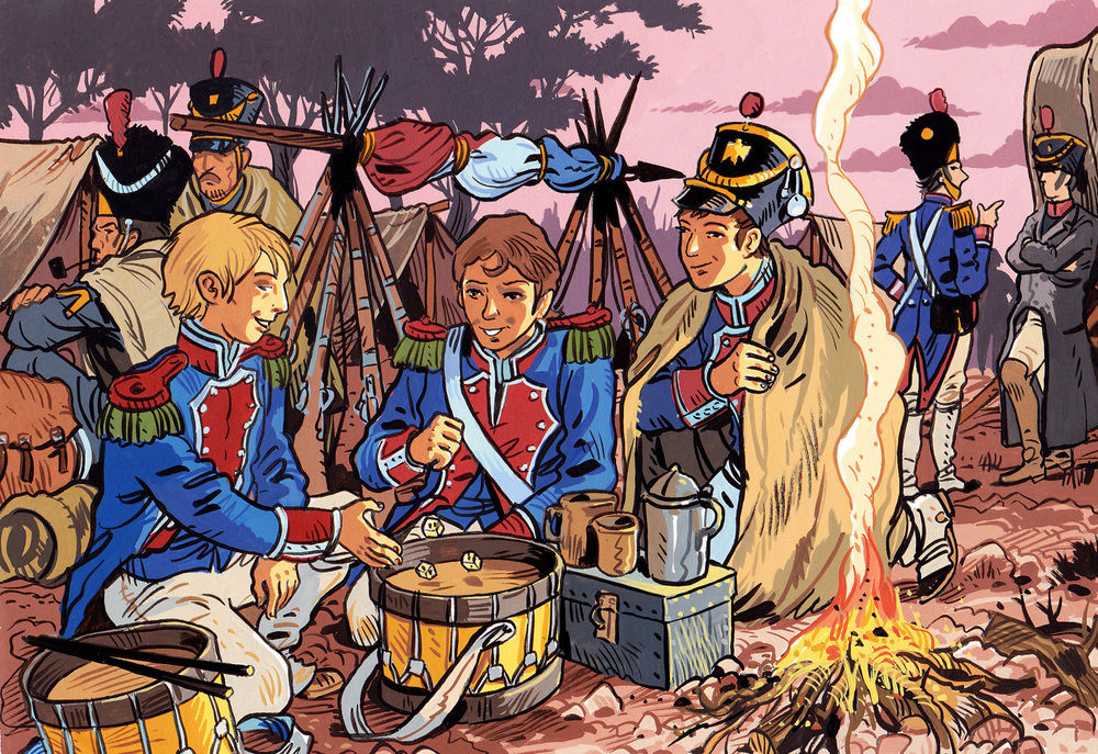 Color illustration of the army of Napoléon