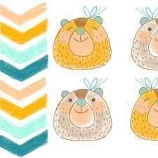 Bear Pattern By Alicia Arlandis