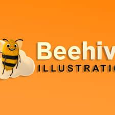 Beehive Logo 3d